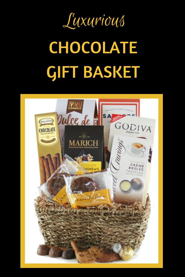 This chocolate gift basket has it all - mouthwatering truffles, chocolates, crunchy cookies,