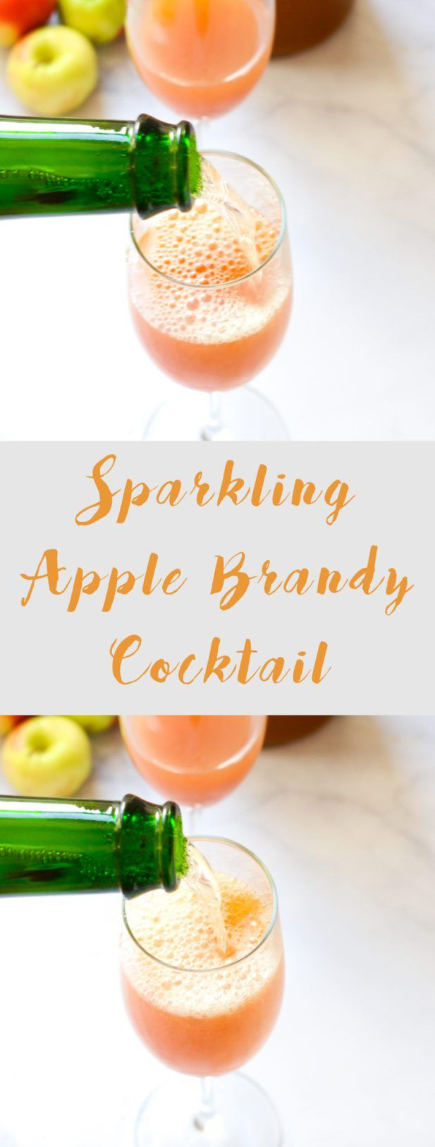 This Sparkling Apple Brandy Cocktail is the perfect soul-warming night cap for chilly fall evenings. Via @mymoderncookery #mymoderncookery