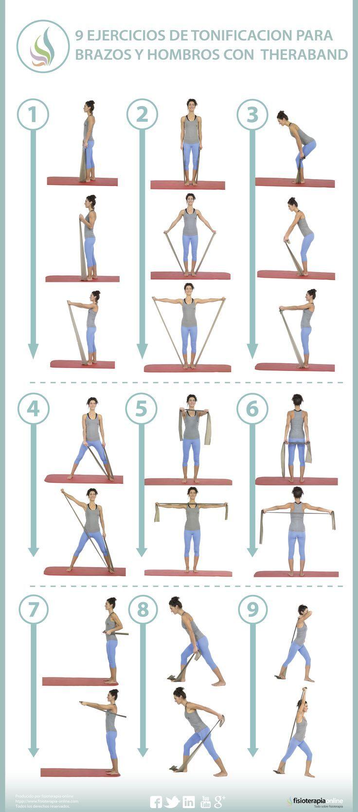 Awesome!! Aprende a tonificar y potenciar tus brazos y hombros con theraband