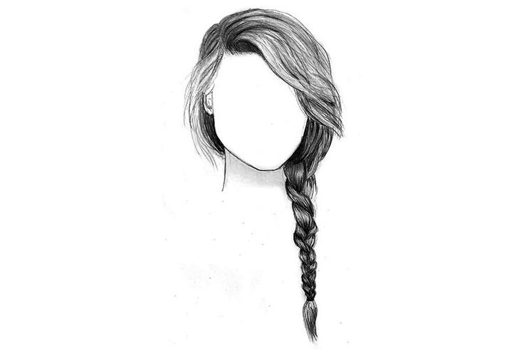 Alexander Wang hair illustration