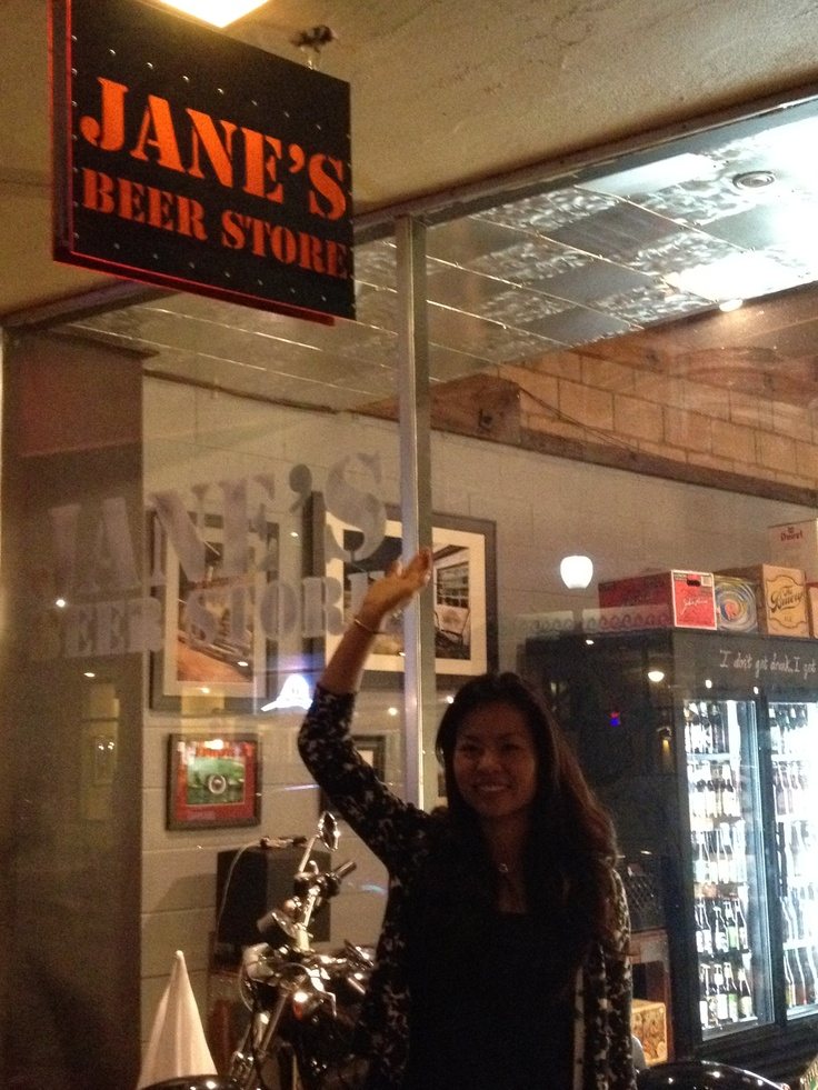 Jane at her beer store!