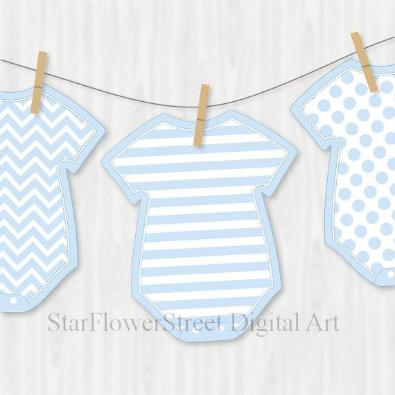 Blue Baby Shower Decorations Banner Wishes for Baby boy cut out printable pattern digital instant download bunting DIY advice card bodysuit by StarFlowerStreetDA