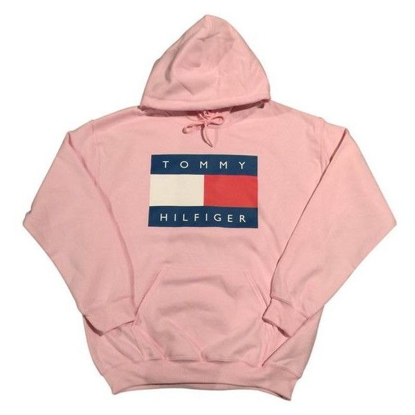 Pink Tommy Hilfiger Logo Hoodie Sweatshirt Vintage 90s Fashion... ❤ liked on Polyvore featuring tops, hoodies, red hooded sweatshirt, vintage tops, hooded sweatshirt, streetwear hoodies and pink hooded sweatshirt