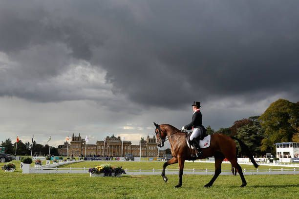 Event rider Oliver Townend of Great Britain riding Cooley Master Class in the dressage discipline of Event Riders Masters during day two of Blenheim...