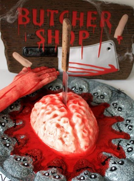 bloody brain panna cotta tutorial must make for walking dead dinner party - Gory Halloween Food Ideas