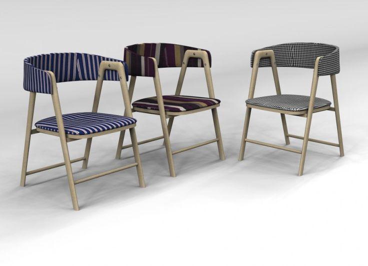 Valentina chair una sedia imbottita con struttura in for Mobilia valentina