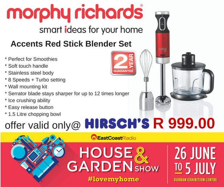 Accents Red Stick Blender Set