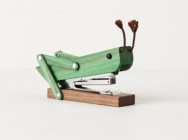 30 Silly Office Supplies Guaranteed to Make You Smile via Brit + Co.  Grasshopper Stapler! How cool is that!!