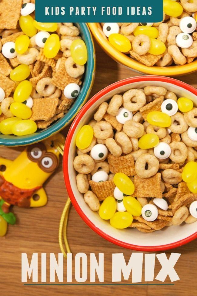 Kid's Party Food Ideas: Minion Mix
