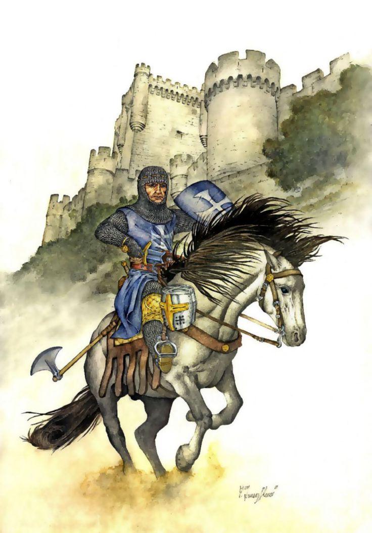 Hospitaller Knight at the Castle Krak de Chevalier