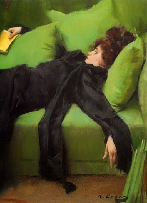 Ramon Casas i Carbó (Catalan Spanish 1866-1932), Decadente (After the Ball),  oil on canvas, 1895, Museo de la Abadía de Montserrat, Barcelona