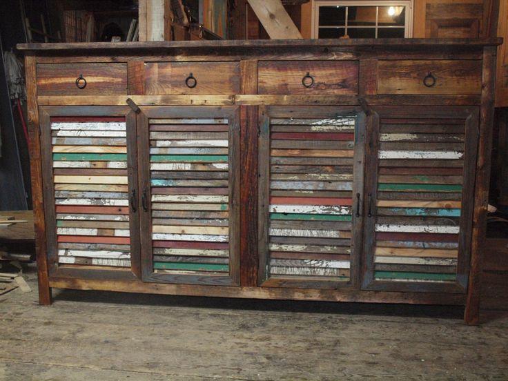 Custom Reclaimed Barn Wood Sideboard
