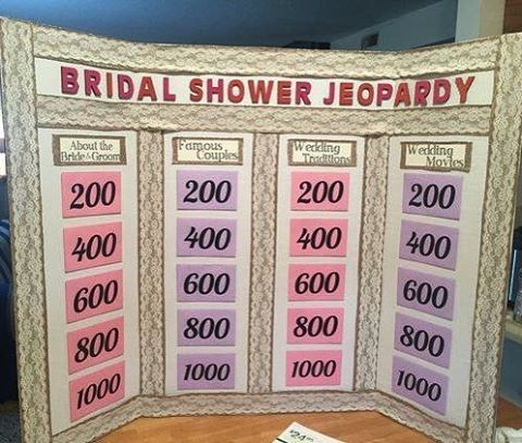 "239 Likes, 33 Comments - WedPicsApp (@wedpicsapp) on Instagram: ""Is this the ultimate Bridal Shower Jeopardy!? Looking for an interactive shower game? This is it!…"""