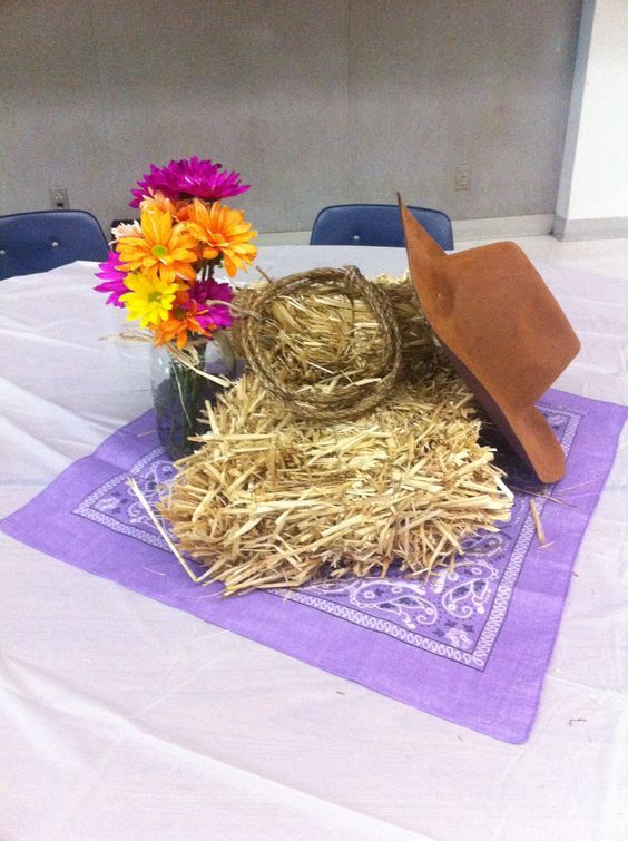 Image result for cowboy roundup centerpieces table