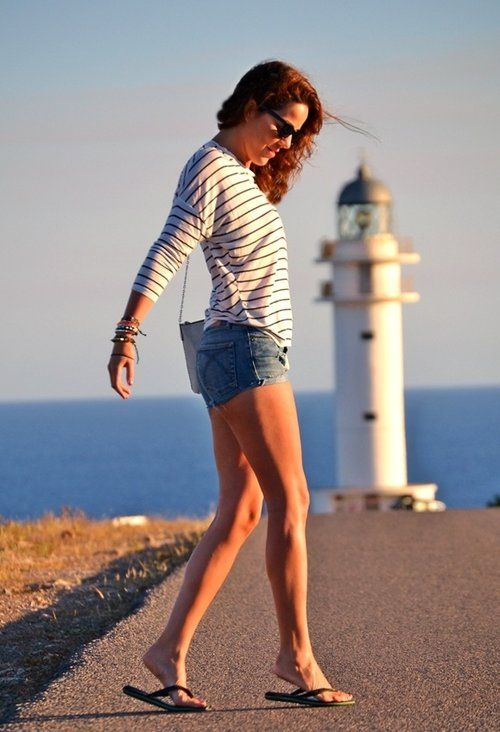 FORMENTERA NAVY  , Zara (new collection) in Cardigans, benetton in Jeans, HAVAIANAS in Flats