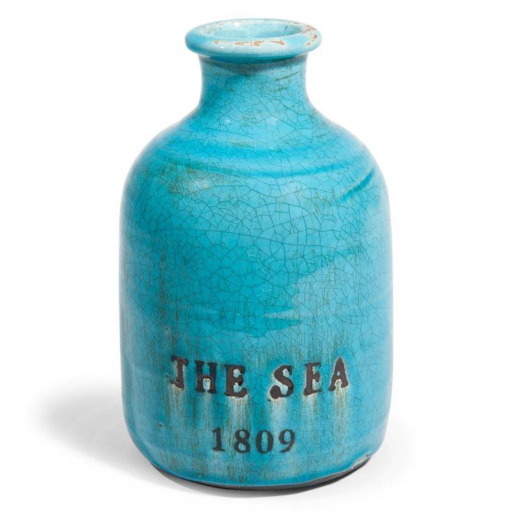 Vase en grès bleu H 22 cm FANTASIA