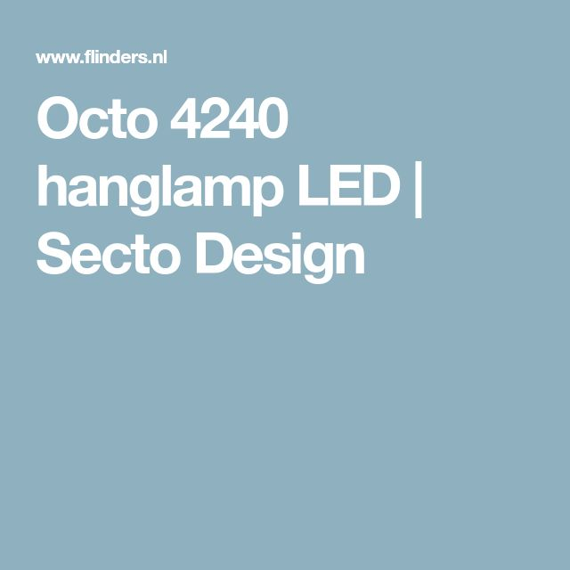 Octo 4240 hanglamp LED | Secto Design