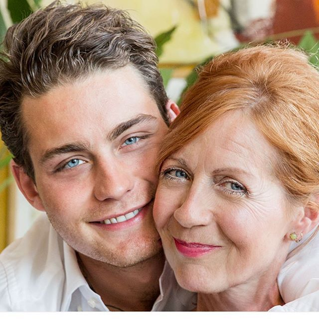 Douwe and Mom... so cute...
