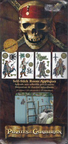 Pirate of the Caribbean Self-Stick Room Appliques @ niftywarehouse.com #NiftyWarehouse #PiratesOfTheCarribbean #Pirates #Movies #Pirate