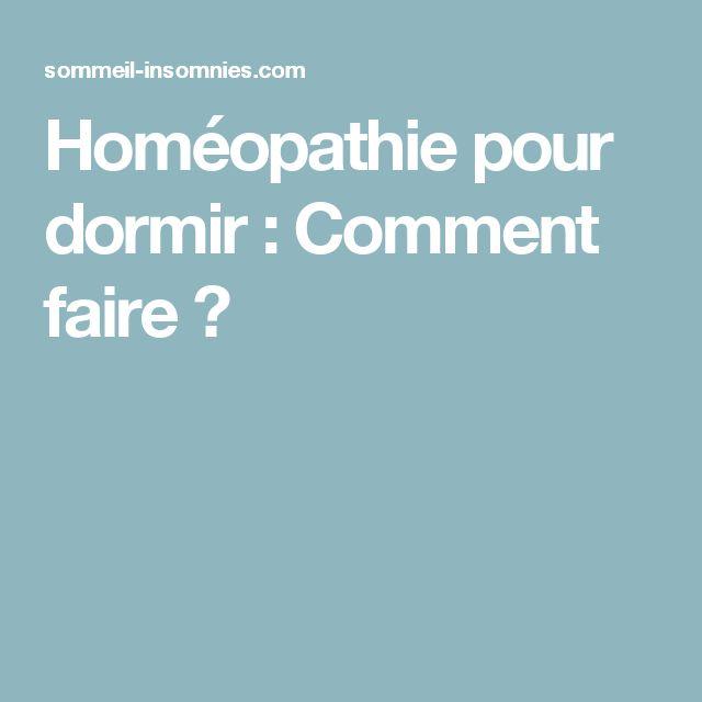 Homéopathie pour dormir : Comment faire ?