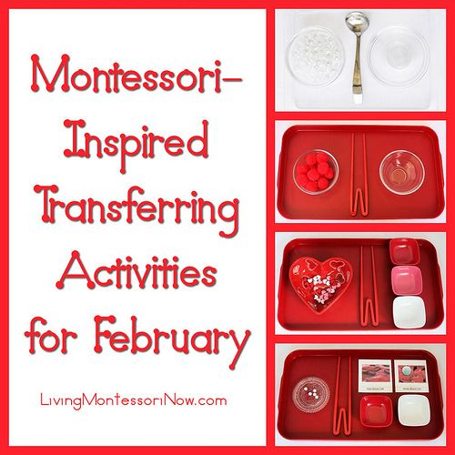 Montessori-Inspired Transferring Activities for February - ideas for winter, Chinese New Year, Valentine's Day, and Heart Health Month themes