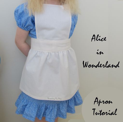 Make an apron for an Alice in Wonderland outfit ~ tutorial by Threading My Way