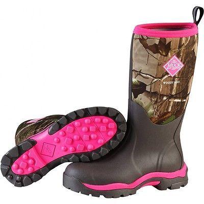 Hunting Footwear 153008: Muck Women S Woody Pk Boots Bark Real Tree Apg Hot Pink 8 Wwpk-Rapg -> BUY IT NOW ONLY: $99.93 on eBay!