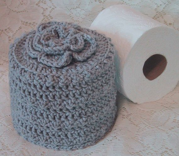 Cover Your Spare Toilet Paper Cover W Flower On Top