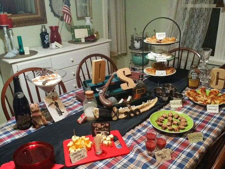the full spread - hosting a Supernatural Theme Party #winchesters