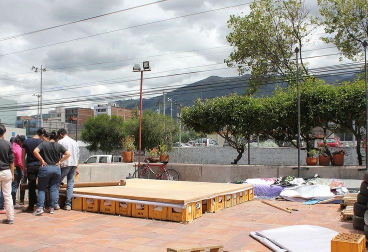 Protótipo de abrigo temporário projetado por Shigeru Ban é construído no Equador…