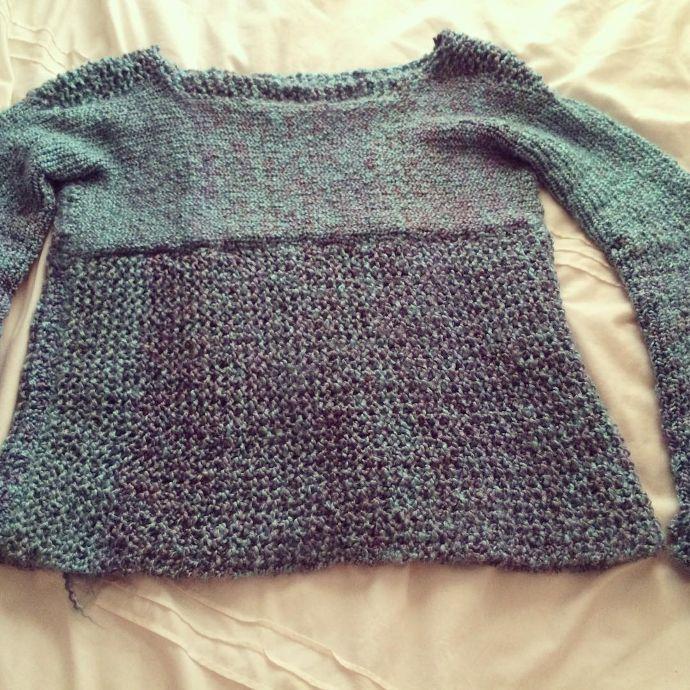 Jersey sweater tejido en telar por @traceyrobilliard