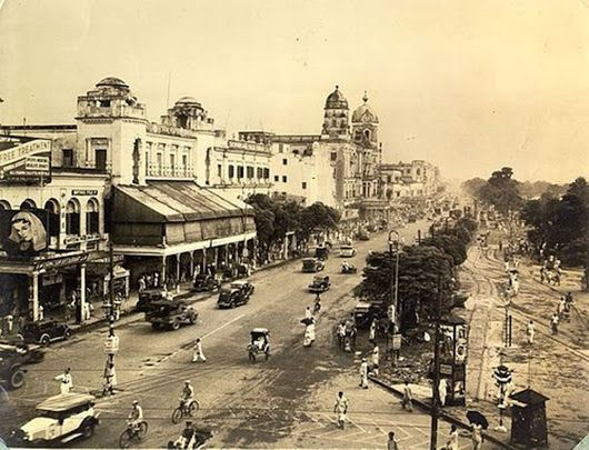 Kolkata - Old Chowringhee Square a city in north-eastern India, in the Ganges delta.