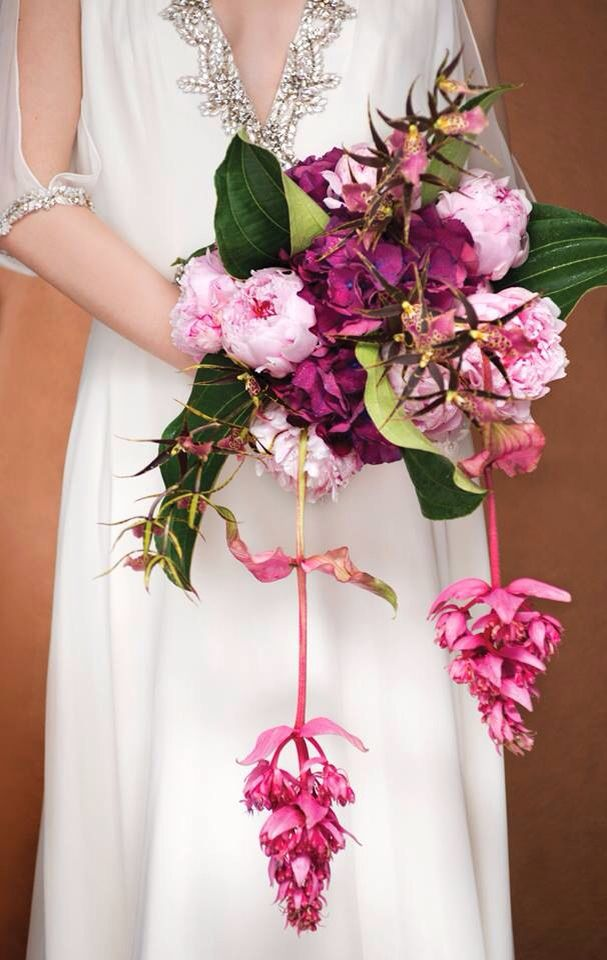 Very unique wedding bouquet Designed by Yves Chenier