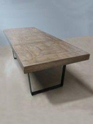 Table 260x100 meurisse bois et métal