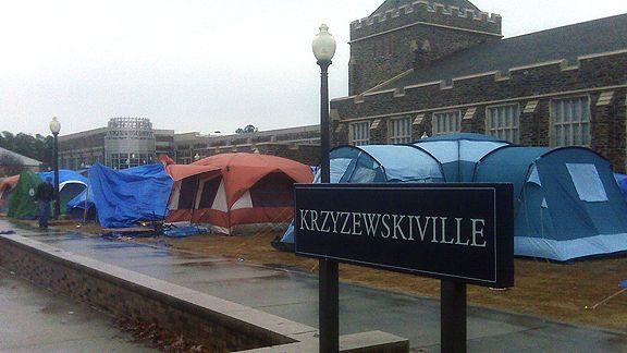 did it freshman year...7 weeks of tenting for the UNC game.  totally worth it.
