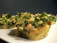 Recept voor hartige spinazie muffins