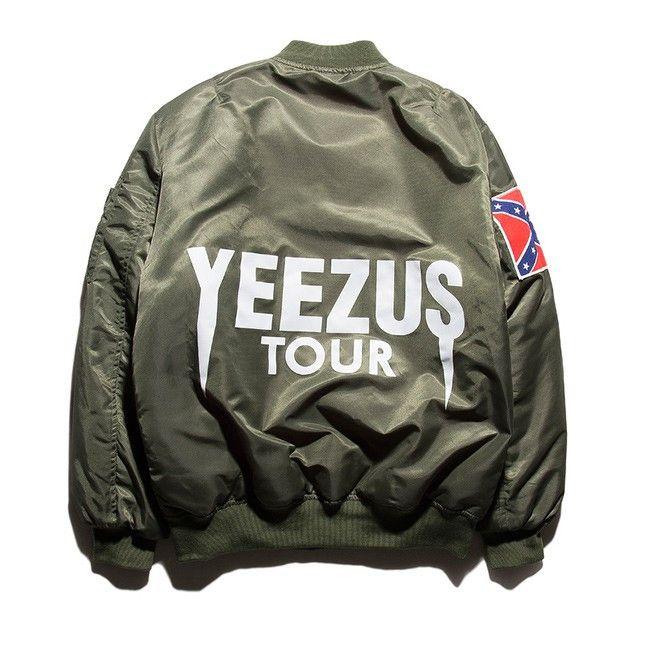 New fashion Jacket Hip Hop Men Brand YEEZUS Jacket Camouflage Air Force Flight Bomber Jacket Men Kanye West Jacket yeezy