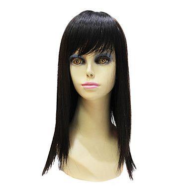 Capless High Quality Synthetic Janpanese Kanekalon Long Black Straight Hair Wig