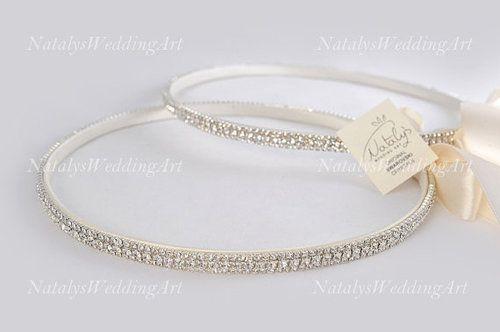 Sparkly Crystal Stefana - Orthodox Wedding Crowns