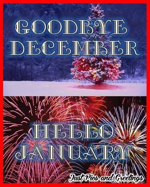 Image result for Goodbye December Welcome January blingee