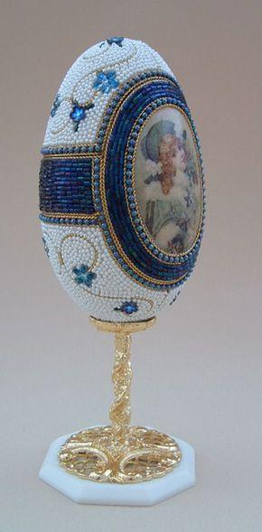 White & Blue Floral Jewelry Box Egg : Zen Cart!, The Art of E-commerce