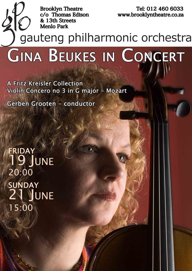 GAUTENG PHILHARMONIC MOZART VIOLIN CONCERTO WITH GINA