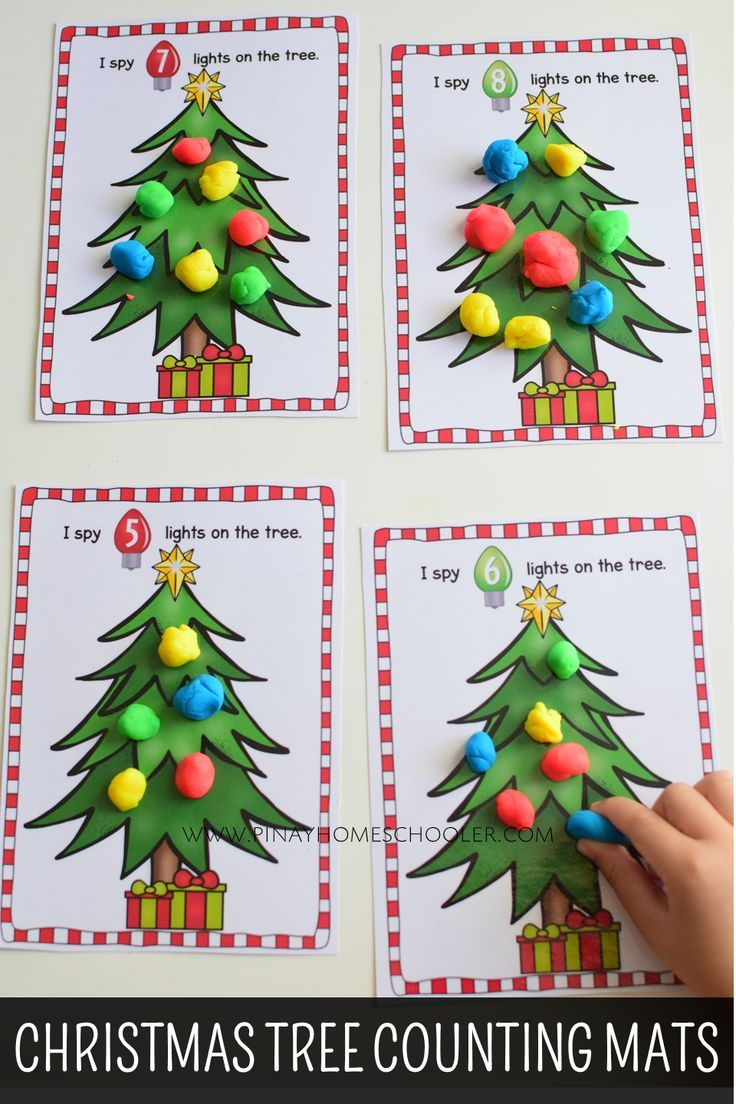 Christmas Themed Counting Activities Preschool Christmas Activities Christmas Math Christmas Preschool Theme