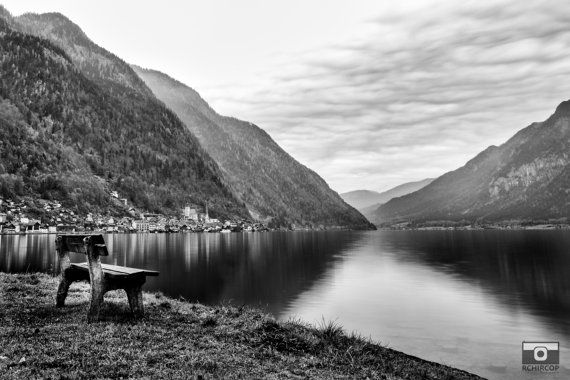 Austrian Mountains Photograph. Hallstatt by FineArtGalleryPrints