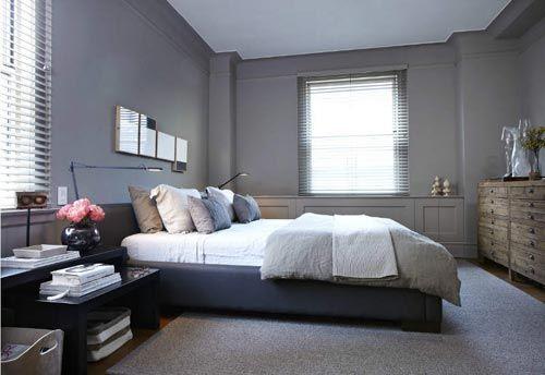 Grijze slaapkamer met schuifdeur  Landelijk modern  Pinterest ...