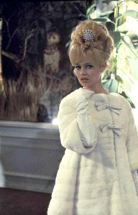 Brigitte Bardot in white mink coat, photo by Nicolas Tikhomiroff, 1960