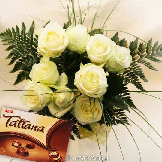 krásna kytica ruží s Tatianou