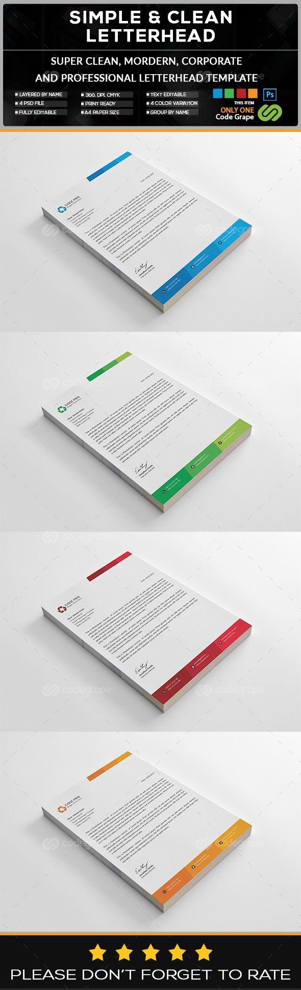corporate letterhead on codegrape more info httpswwwcodegrape letterhead designbrochure ideasstationary - Letterhead Design Ideas