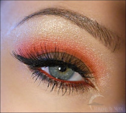 Girl on FireGirls Generation, Eye Shadows, Fire Makeup, Fire Eye, Orange Eyeshadows For Blue Eye, Blue Eye Makeup, Hair Makeup, Makeup Nails Hair, Autumn Makeup