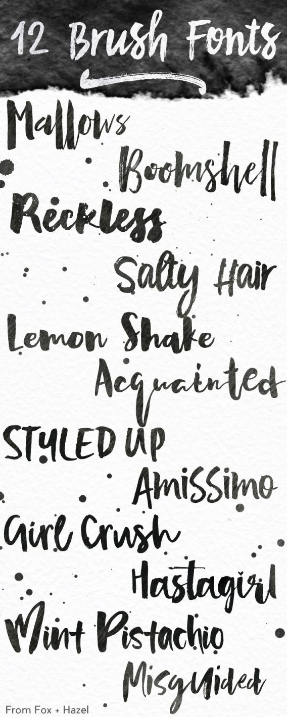 12 Thick Brush Fonts Brush Font Lettering Fonts